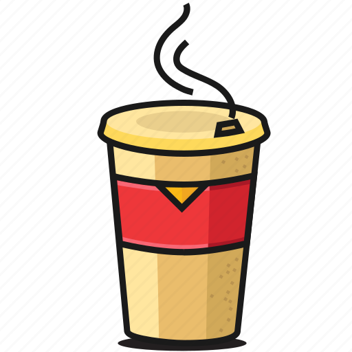 breakfast, coffee, drink, fastfood, hot, latte, to go icon