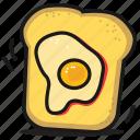 toast, fastfood, sandwich, food, breakfast, egg, bread icon