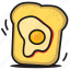 bread, breakfast, egg, fastfood, food, sandwich, toast icon