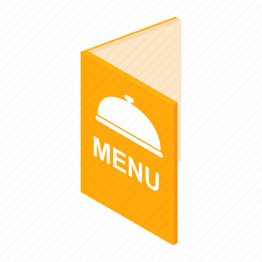 Brochure, cafe, isometric, meal, menu, restaurant, template icon - Download on Iconfinder