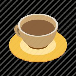 breakfast, cafe, caffeine, coffee, cup, espresso, isometric icon