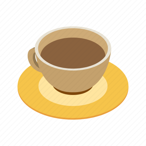 breakfast, cafe, caffeine, coffee, cup, espresso, isometric icon