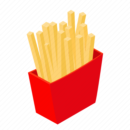 Fast, food, french, fries, isometric, potato, snack icon - Download on Iconfinder
