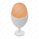 isometric, natural, food, healthy, fresh, egg, ingredient icon
