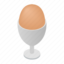 egg, food, fresh, healthy, ingredient, isometric, natural icon
