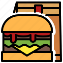 burger, patty, beef, meat, sandwich