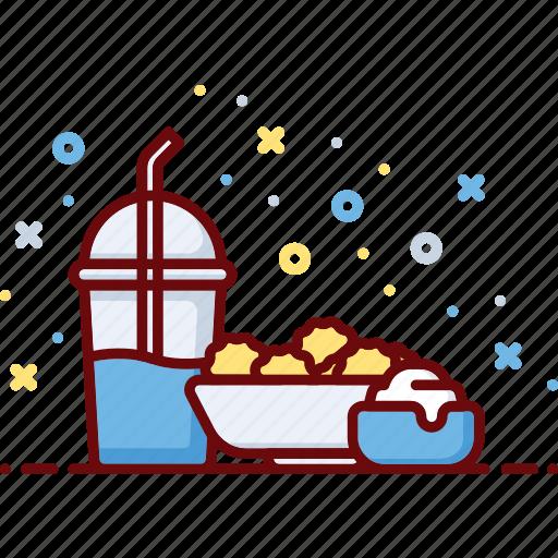 cream, cuisine, drink, dumpling, food, russian, soda icon