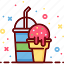 cream, drink, eat, ice, soda, summer, sweet icon