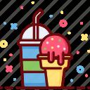 cream, drink, eat, ice, soda, summer, sweet