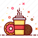 cafe, coffee, cookie, donut, drink, hot, sweet icon