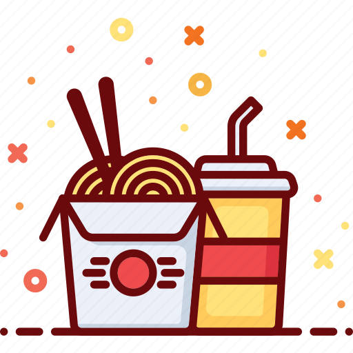 chinese, cuisine, fast food, food, noodles, oriental, soda icon