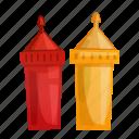 fast, food, ketchup, mayonnaise, mustard, sauce icon
