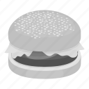 burger, cooking, fast, food, hamburger, ingredients, restaurant