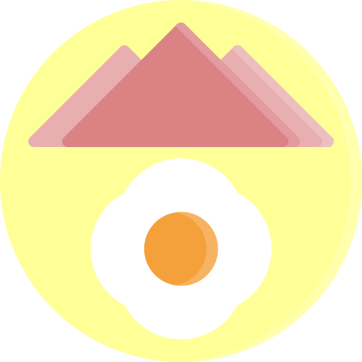 Breakfast, egg, fastfood, food, ham, plate, fast icon - Free download