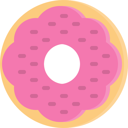 Dessert, donut, doughnut, fastfood, food, snack, strawberry icon - Free download