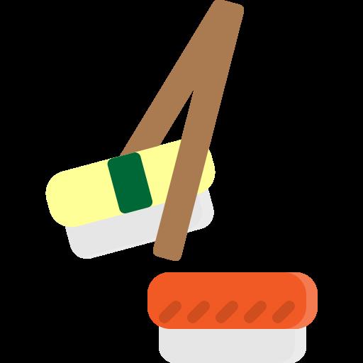 Chopsticks, food, japan, japanese, roll, salmon, sushi icon - Free download