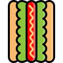 bread, fast, fastfood, food, hotdog, sausage, snack icon