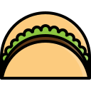bisto, chicken, fastfood, food, kebab, meat, taco icon