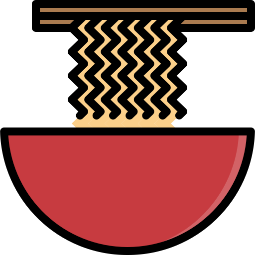 asian, bowl, chopsticks, food, noodle, ramen, spaghetti icon