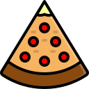 pizza, food, italian, fast, cheese, fastfood, piece icon