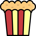 popcorn, food, fastfood, dessert, cinema, film, sweet icon