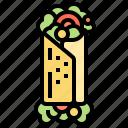 burrito, gourmet, mexican, tortilla, wrap