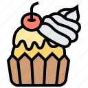 baked, cupcakes, dessert, party, treat icon