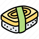 appetizer, cuisine, culinary, japanese, sushi icon