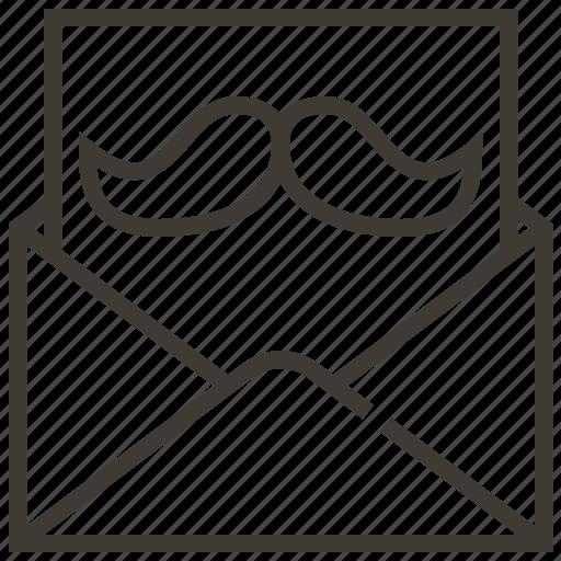 letter, message, mustache icon