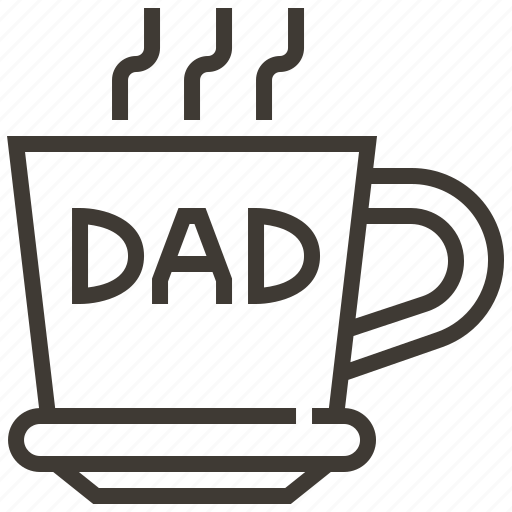 Father, dad, mug, cup icon