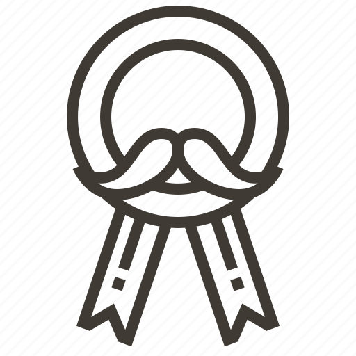 award, mustache, prize, ribbon icon