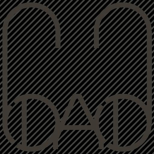 dad, father, glasses icon