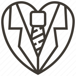 heart, love, tie icon