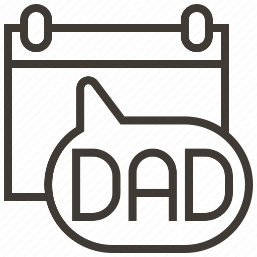 calendar, date, father, fathers day icon