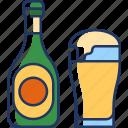 beer, drink, alcohol, glass, bottle, beverage, food
