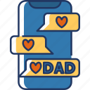 chats, message, chat, chatting, talk, dad, fathers day