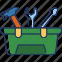 toolbox, tool, repair, toolkit, equipment, construction, work