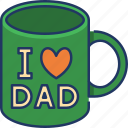 mug, dad, fathers day, love dad, cup, beverage, coffee