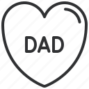 dad, daddy, heart, love icon