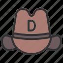 cap, cowboy, hat, holiday icon