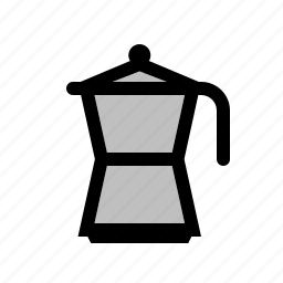coffee, cooking, household, italian, kitchen, mocha, utensil icon