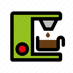 appliance, coffee machine, cooking, electrical, equipment, household, kitchen icon