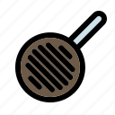 cooking, frying, household, kitchen, pan, steak, utensil icon