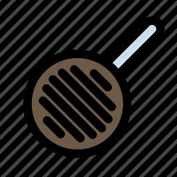 cooking, frying, household, kitchen, pan, steak, utensil icon