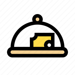 cheese, cloche, cooking, dome, equipment, food, kitchen icon