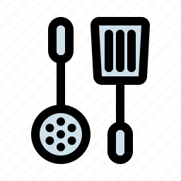 cooking, equipment, household, kitchen, ladle, spatula, utensil icon