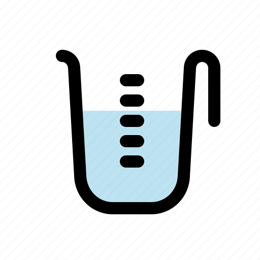 beaker, cooking, equipment, household, kitchen, measuring cup, utensil icon