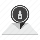 bottle, gell, glue, paper, place, pointer icon