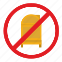 cancel, mail, mailbox, post, stand, street icon