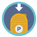 inbox, mail, post, round, service, traffic icon